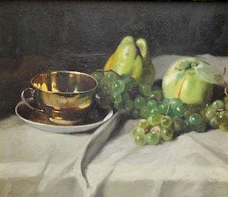 ARPAD, Romek. Oil on Board. Still Life with Fruit