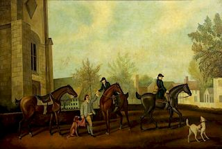 SKILLING, William. Oil on Canvas. Before the Hunt.