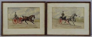 VOSS, Franklin Brooke. Pair of Horse Racing