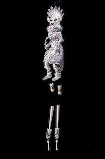 Navajo Tommy Singer Sterling Buffalo Dancer Bolo