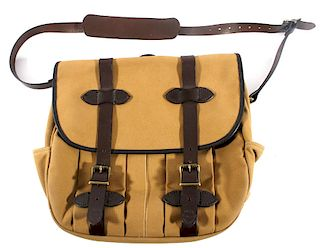 Filson Twill & Leather Messenger Bag