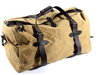 Filson Twill & Leather Duffle Bag