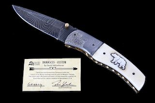 Navajo Dave Yellowhorse Damascus Grizzly Knife