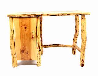 Rustic Hardwood Cedar Log Desk