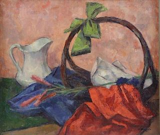 AUCELLO, Salvatore. Oil on Canvas. Still Life with