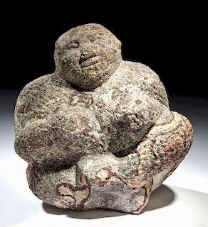Pre-Classic Maya Stone Seated Female Fertility Figure