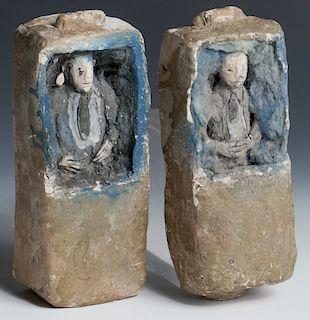 "James ""Son Ford"" Thomas (1926-1993) 2 Coffin Sculptures"