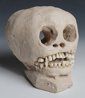 """James """"Son Ford"""" Thomas (1926-1993) Scull Sculpture"""