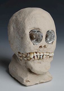"James ""Son Ford"" Thomas (1926-1993) Skull Sculpture"