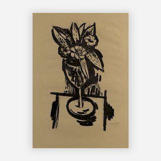 Marsden Hartley - Flowers in a Goblet #1