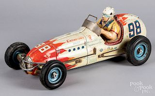 Indianapolis style friction race car