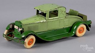 Kingsbury pressed steel wind-up cabriole coupe