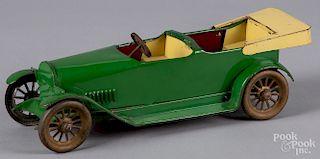 Painted tin touring car
