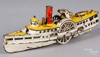Wilkins cast iron side wheeler boat