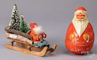 Composition roly-poly Santa Claus, etc.