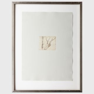 Joseph Beuys (1921-1986): Stag's Skull, from Tears Suite