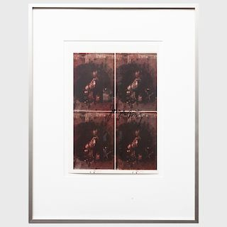 Joseph Beuys (1921-1986):  Proof Sheet for Hare's Grave II