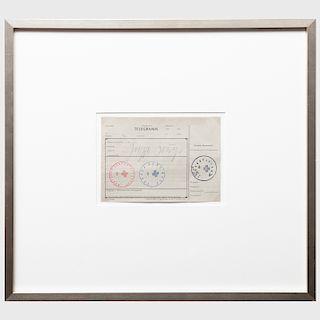 Joseph Beuys (1921-1986): Telegramm