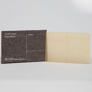 Joseph Beuys (1921-1986): Honey is Flowing;  and Felt Postcard