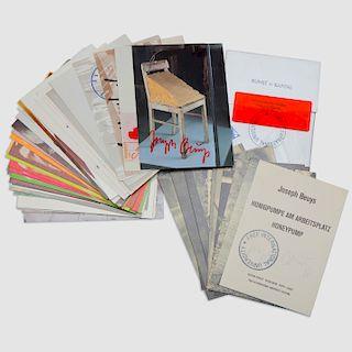 Joseph Beuys (1921-1986): Honeypump  Postcards; Kunst=Kapital Postcards; and Group of Forty-Five Postcards