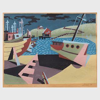 Léon Bibel (1913-1995): Harbor