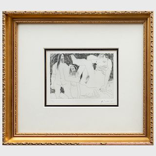 Pablo Picasso (1881-1973): Homme Primitif, Celestine et Fille, from Series 156