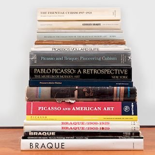 Group of Eighteen Books on Picasso and Braque