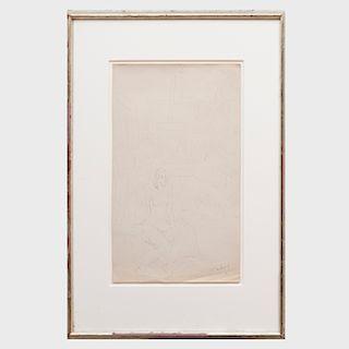 Milton Avery (1885-1965): Interior with Nude
