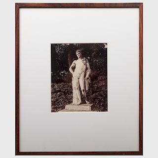 Eugène Atget (1857-1927): Untitled (Statue at Versailles)