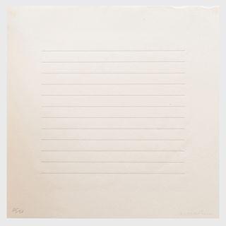 Agnes Martin (1912-2004): Untitled
