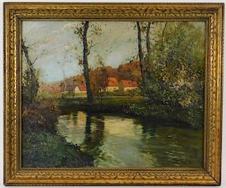 Frits Thaulow Reflective Impressionist Painting