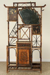 FRENCH LACQUERED BAMBOO UMBRELLA STAND C.1880