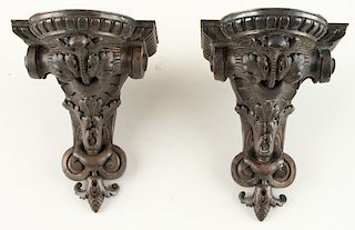 PR FRENCH ROBERT GUGNY OUDRY BRONZE WALL SHELVES