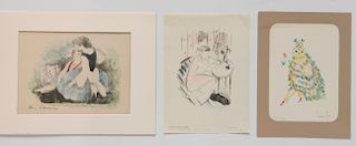 3 French lithographs