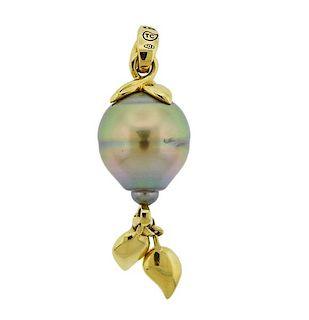 Tamara Comolli Pearl 18k Gold Pendant