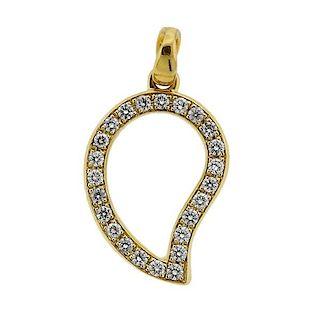 Tamara Comolli 18k Gold Diamond Signature Pendant