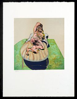 AFTER FRANCIS BACON LYING FIGURE COLOR LITHOGRAPH