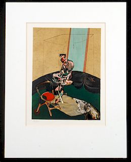 AFTER FRANCIS BACON MEMORY OF GEORGE DYER LITHO