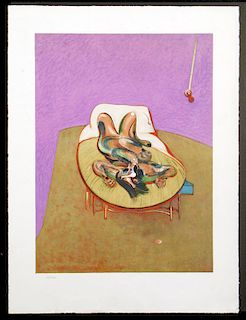 AFTER FRANCIS BACON OHNE TITEL COLOR LITHOGRAPH