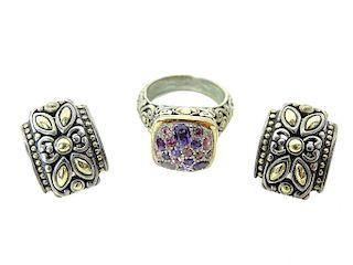 John Hardy Earrings and Ring Set