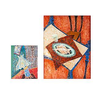 Firmado Armando Talavera (México, siglo XX) Óleos sobre tela. 1 Firmado y fechado 92. 60 x 100 cm (mayor) Piezas: 2