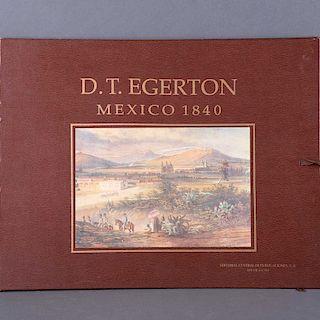 LIBRO CON REPRODUCCIONES DE VISTAS MEXICANAS. Egerton, Daniel Thomas. México 1840. México: Editorial Central de Publicaciones, 1990.