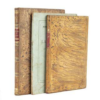 Fabricación de las Esencias / Manual Práctico del Tintorero / Formulario Práctico de Abonos. Piezas: 3.