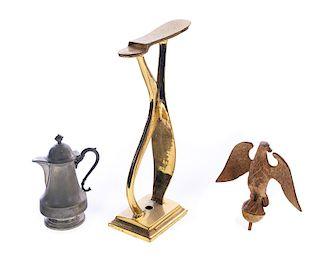 3 Antique Metalware Items