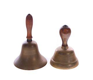 2 Antique Brass Bells