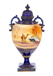 Noritake Arabian Scene Urn