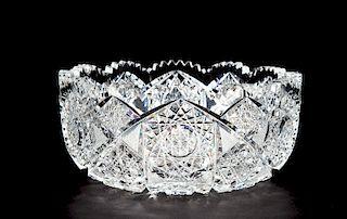 Brilliant Cut Glass Bowl Marked Eleite