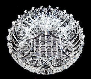 Signed Libbey ABP Cut Glass Bowl