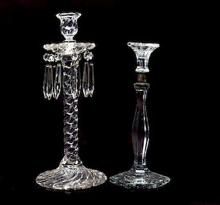 2 15 Inch Fostoria Old Colony Candle Stick and Heisey