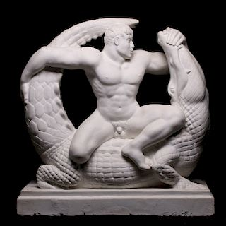NATHANIEL CHOATE (1899-1965) PLASTER MAQUETTE 1937